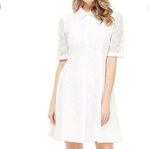 Gal Meets Glam white lace dress size 14 NWT